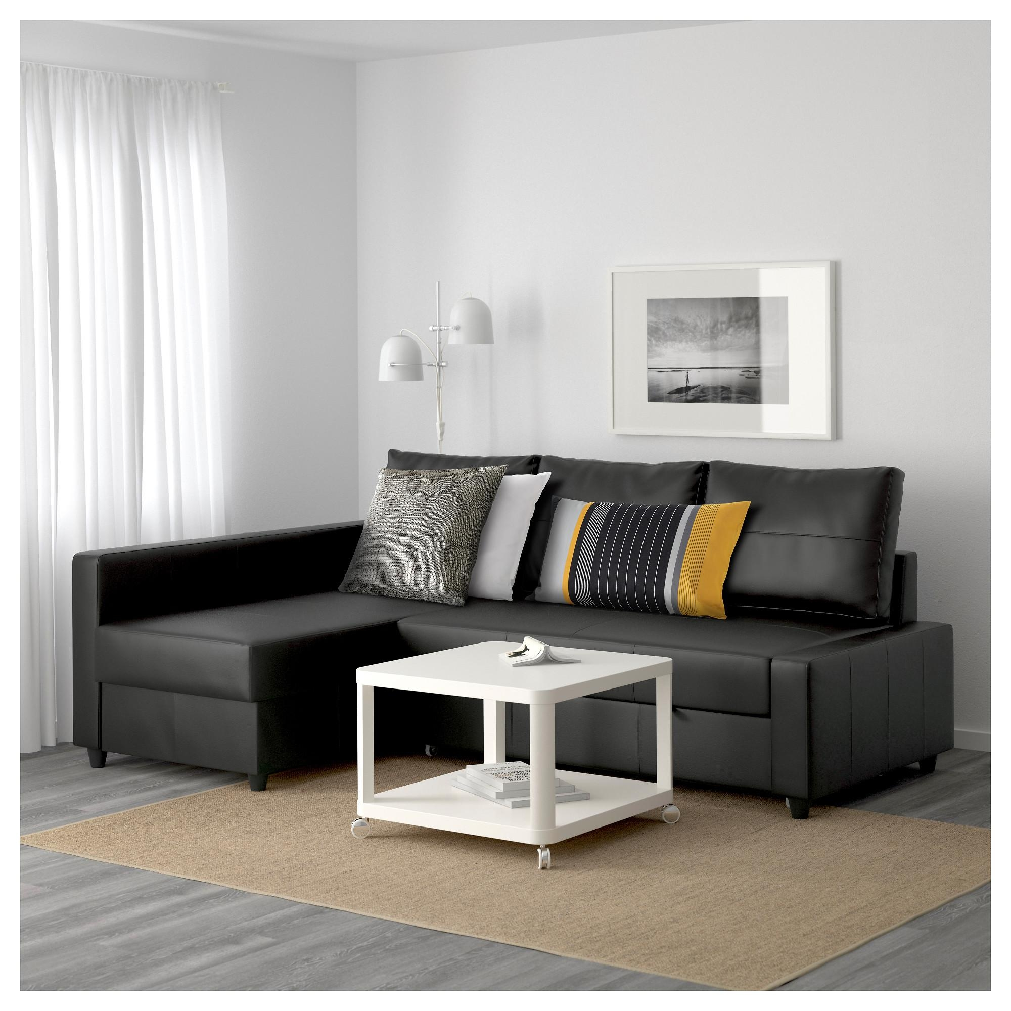 Friheten Sleeper Sectional,3 Seat W/storage – Skiftebo Dark Gray In Sleeper Sectional Sofa Ikea (Image 5 of 20)