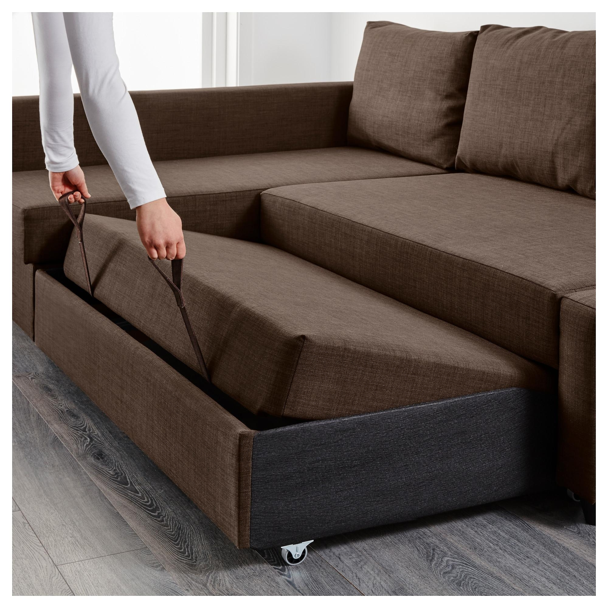 Friheten Sleeper Sectional,3 Seat W/storage – Skiftebo Dark Gray Regarding Ikea Storage Sofa Bed (View 5 of 20)