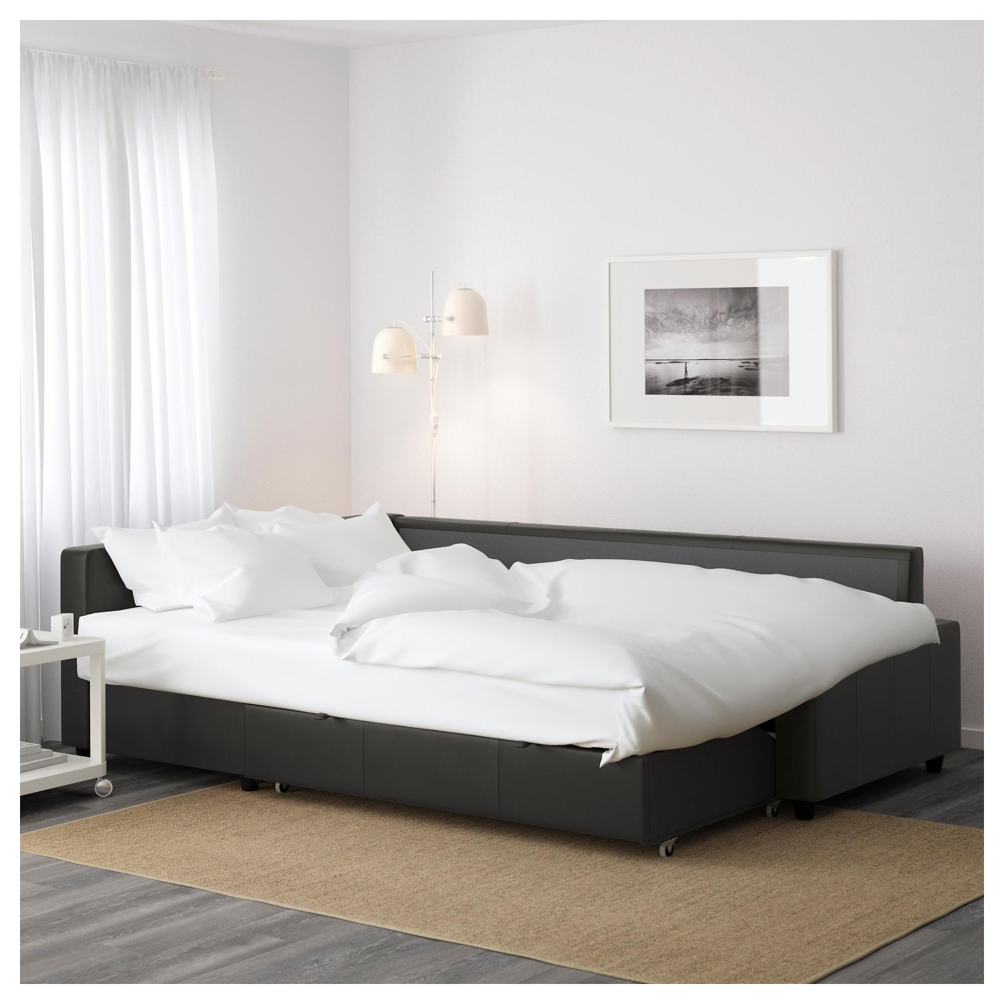 Friheten Sleeper Sectional,3 Seat W/storage – Skiftebo Dark Gray With Regard To Storage Sofa Ikea (Image 12 of 20)
