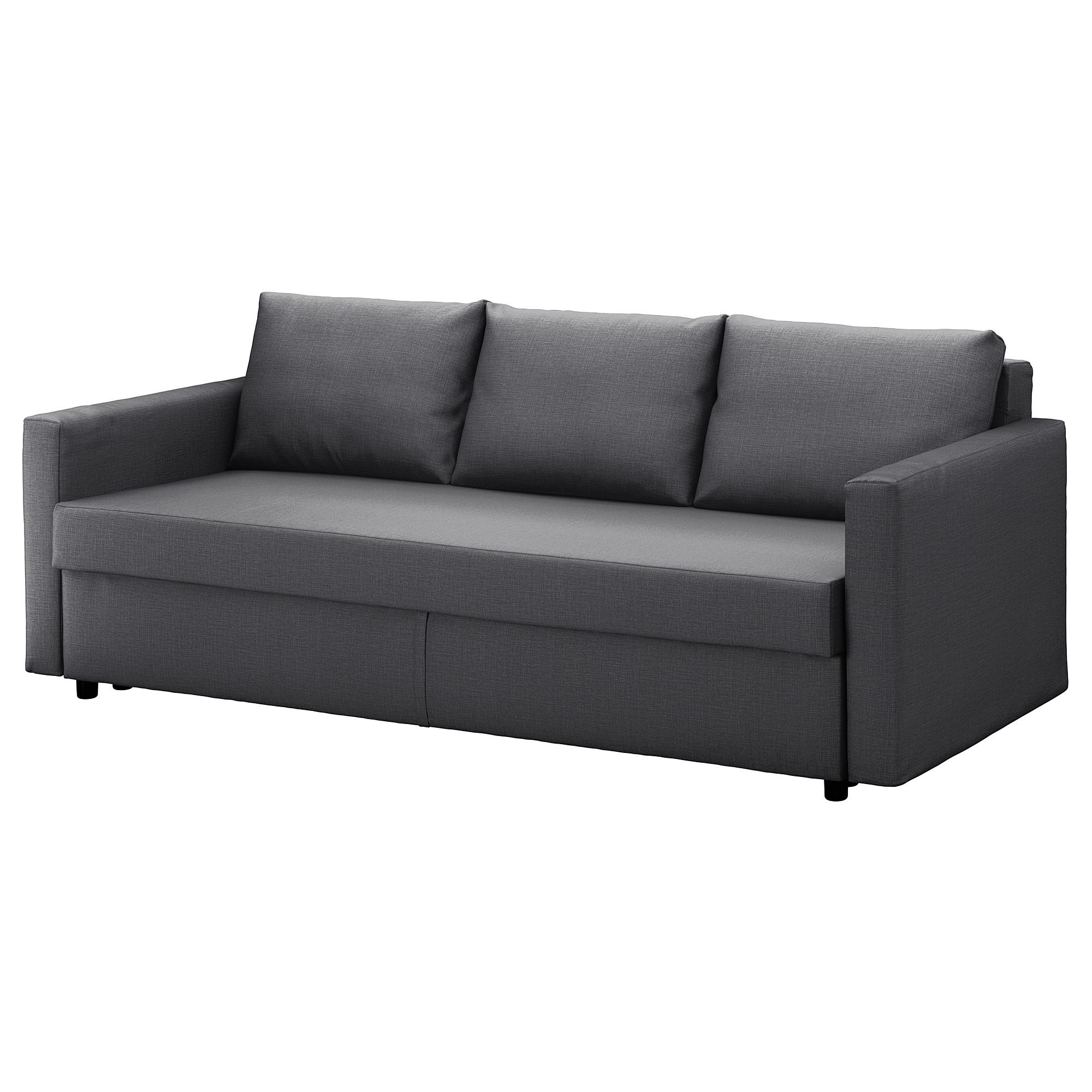 Friheten Sleeper Sofa – Skiftebo Dark Gray – Ikea Within Sofa Beds (Image 3 of 20)