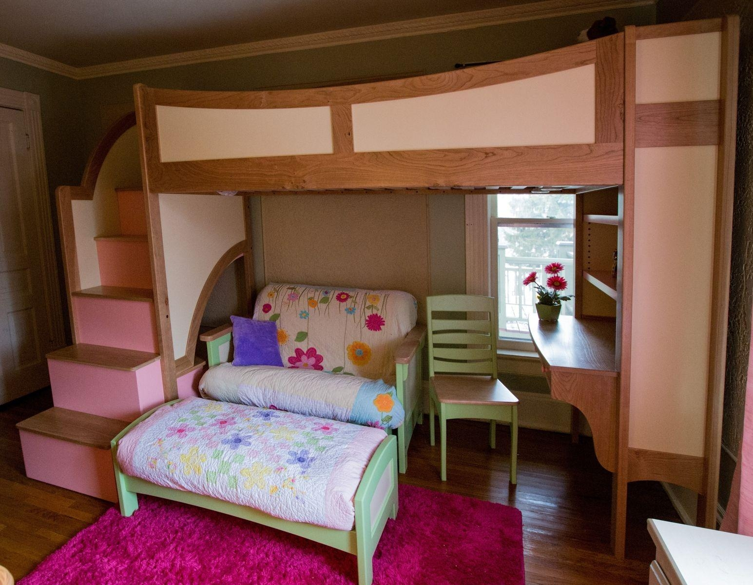 Full Size Bunk Bed With Desk Underneath Sofas Couches Dining Regarding Bunk Bed With Sofas Underneath (Image 15 of 20)