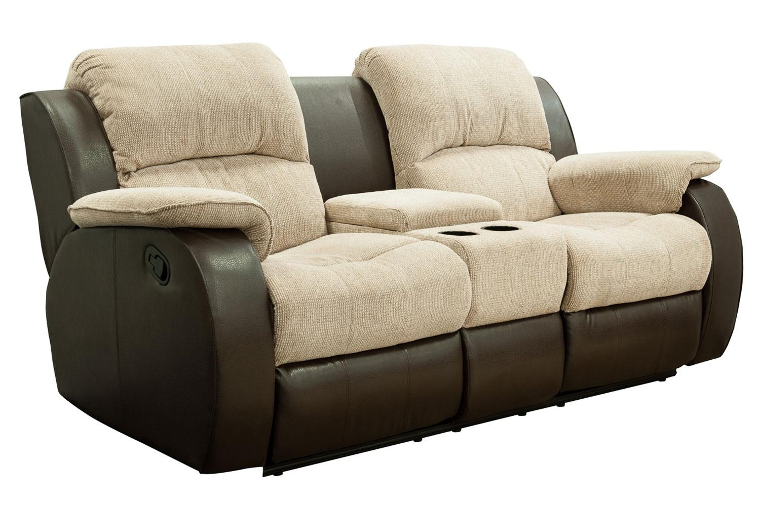 Funiture: Modern Reclining Sofa Ideas For Living Room Using Black With Regard To Sofas With Drink Holder (Image 9 of 20)