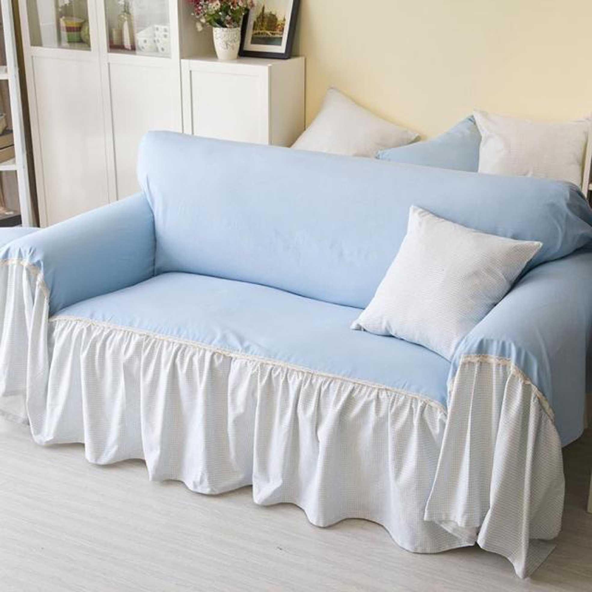 Furniture: 2 Piece Sofa Slipcover | Shabby Chic Sofa Slipcovers For Shabby Chic Sofa Slipcovers (Image 14 of 20)