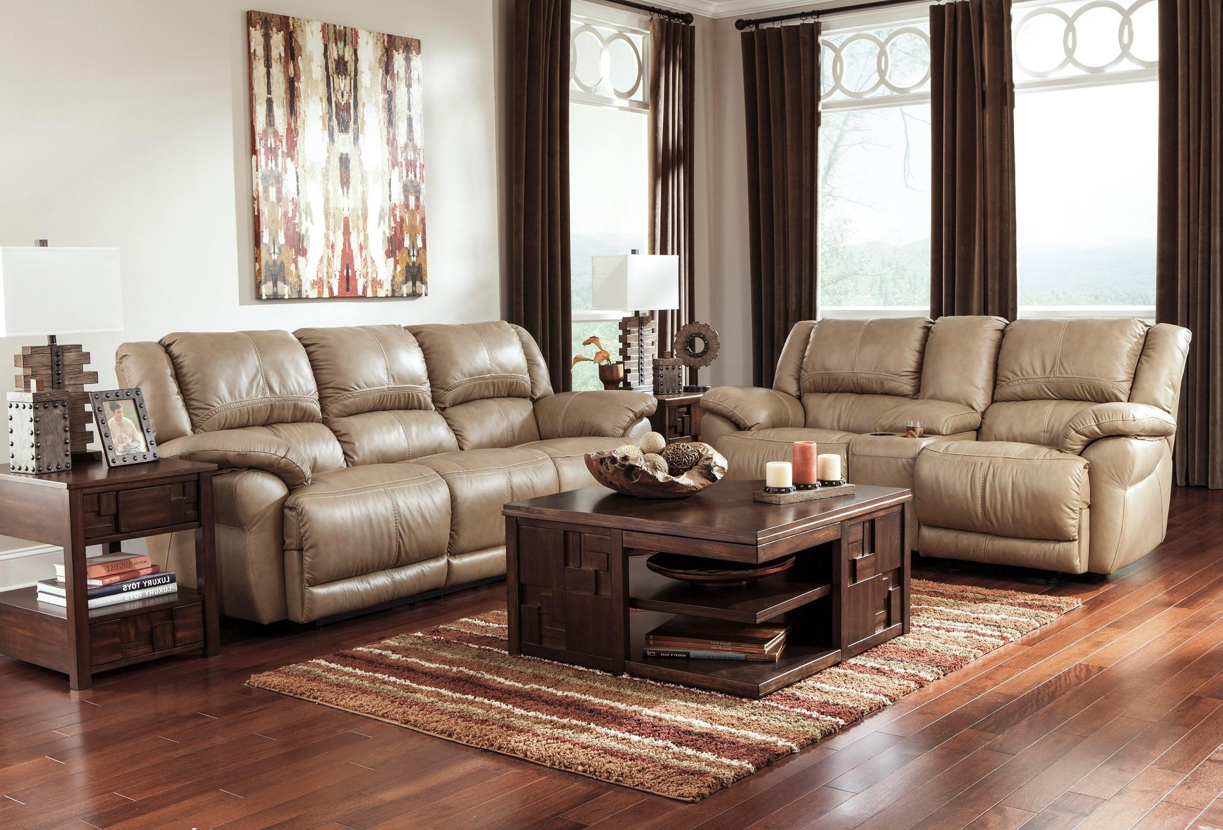 Furniture: Add Luxury To Your Home With Full Grain Leather For Cheap Reclining Sectionals (Image 3 of 15)