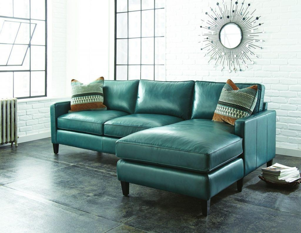 Furniture: Add Luxury To Your Home With Full Grain Leather Intended For Green Leather Sectional Sofas (Image 4 of 20)
