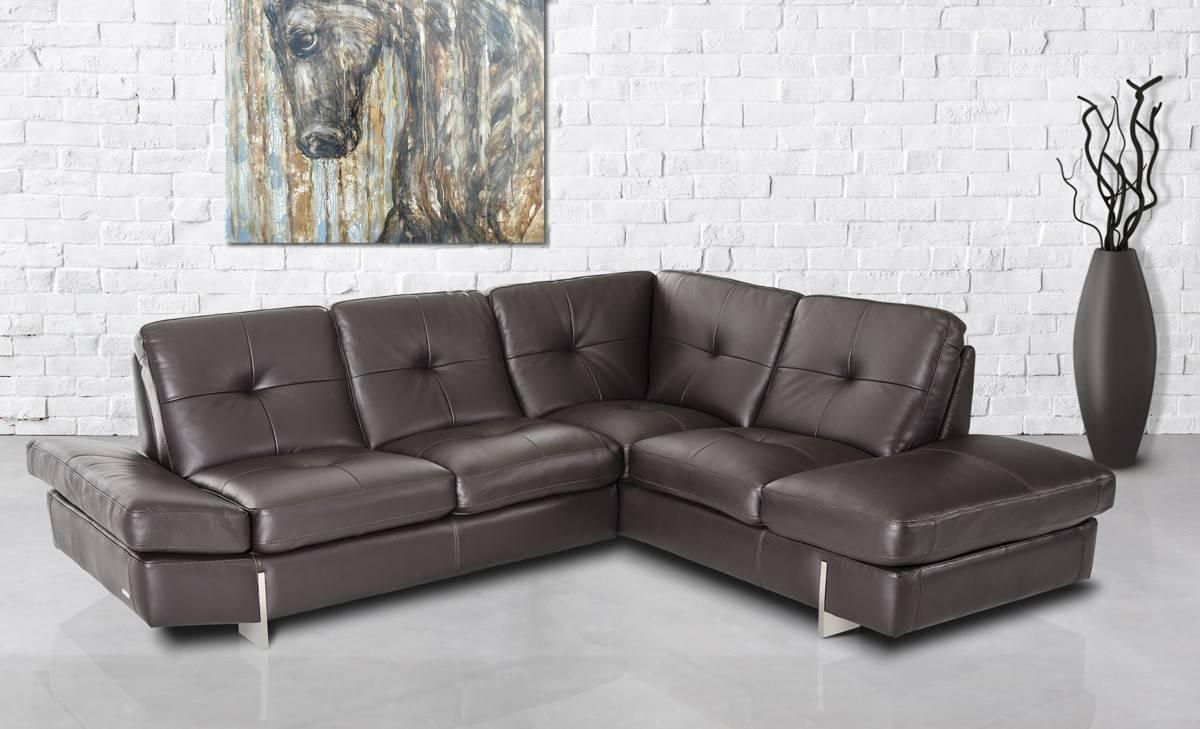 Furniture: Add Luxury To Your Home With Full Grain Leather With High Quality Leather Sectional (Image 7 of 20)