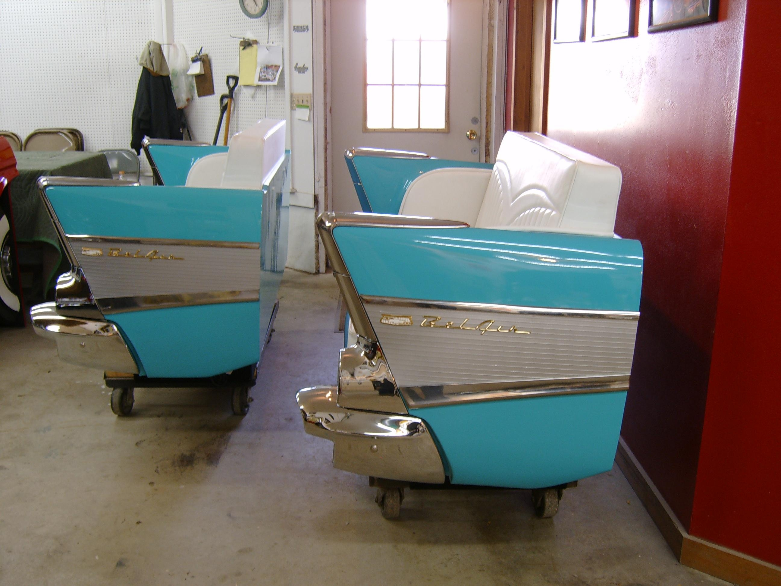 Furniture: Alluring Retro Classic Blue Leather Car Teal Couch With Pertaining To Retro Sofas And Chairs (Image 9 of 20)
