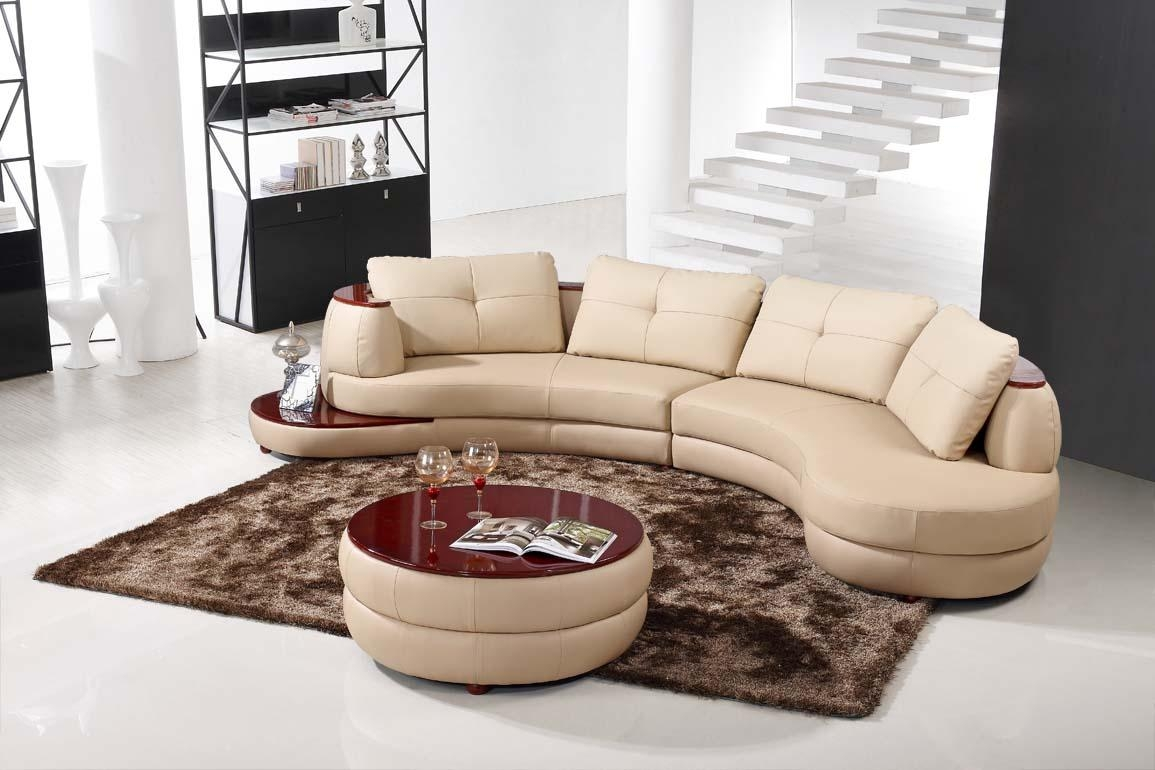 Furniture: Alluring Unique Curved Couches With Classic Design Home For Leather Curved Sectional (Image 5 of 20)