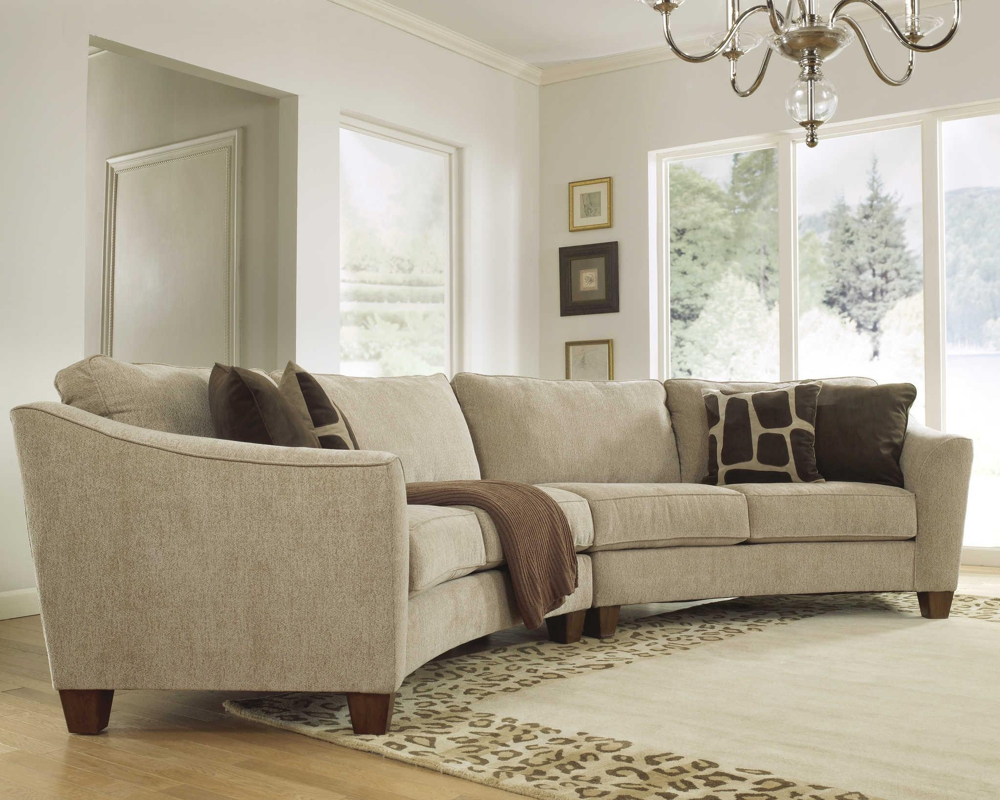 Furniture: Alluring Unique Curved Couches With Classic Design Home In Semi Sofas (Image 6 of 20)