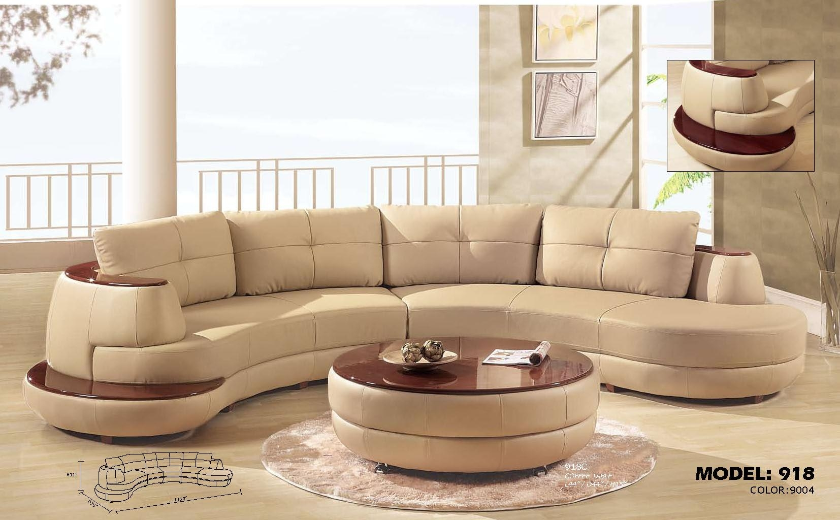 Furniture: Alluring Unique Curved Couches With Classic Design Home With Circular Sectionals (Image 9 of 15)