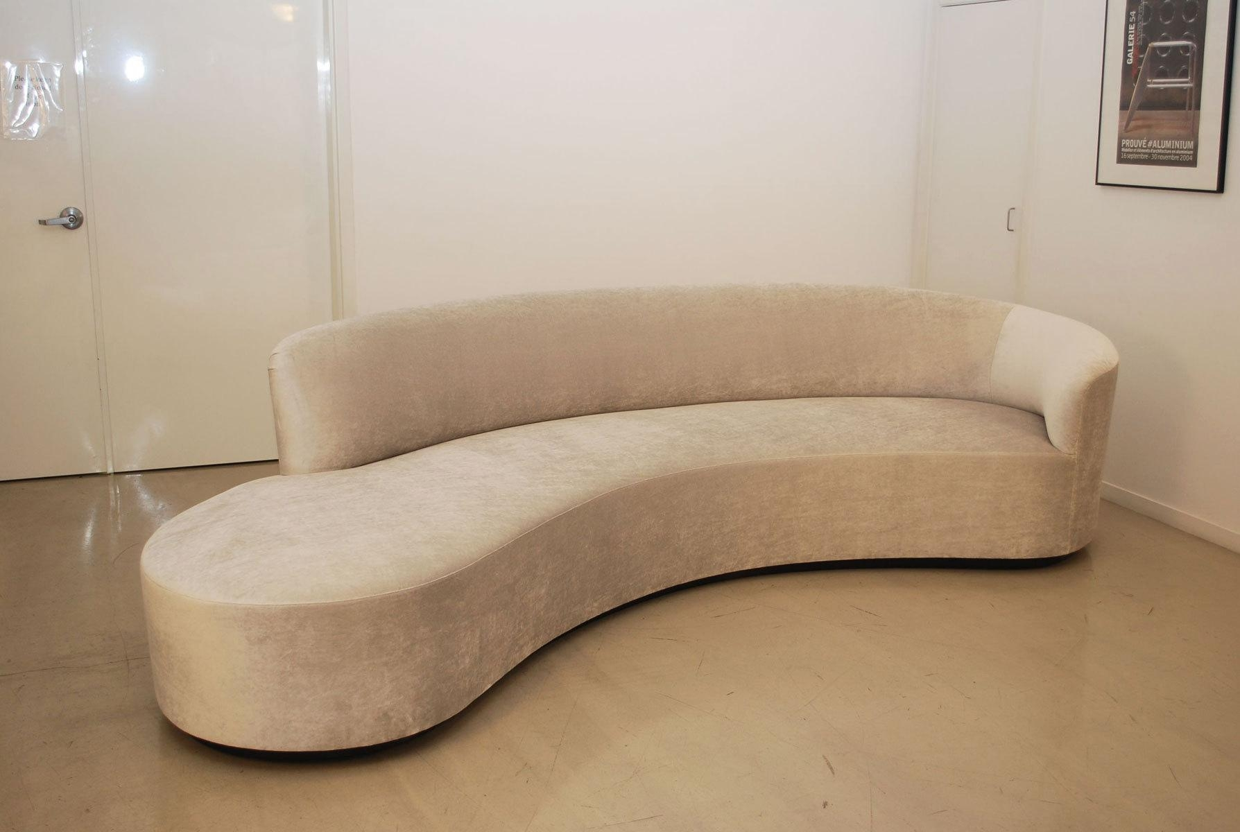 Furniture: Alluring Unique Curved Couches With Classic Design Home With Regard To Semi Sofas (Image 9 of 20)