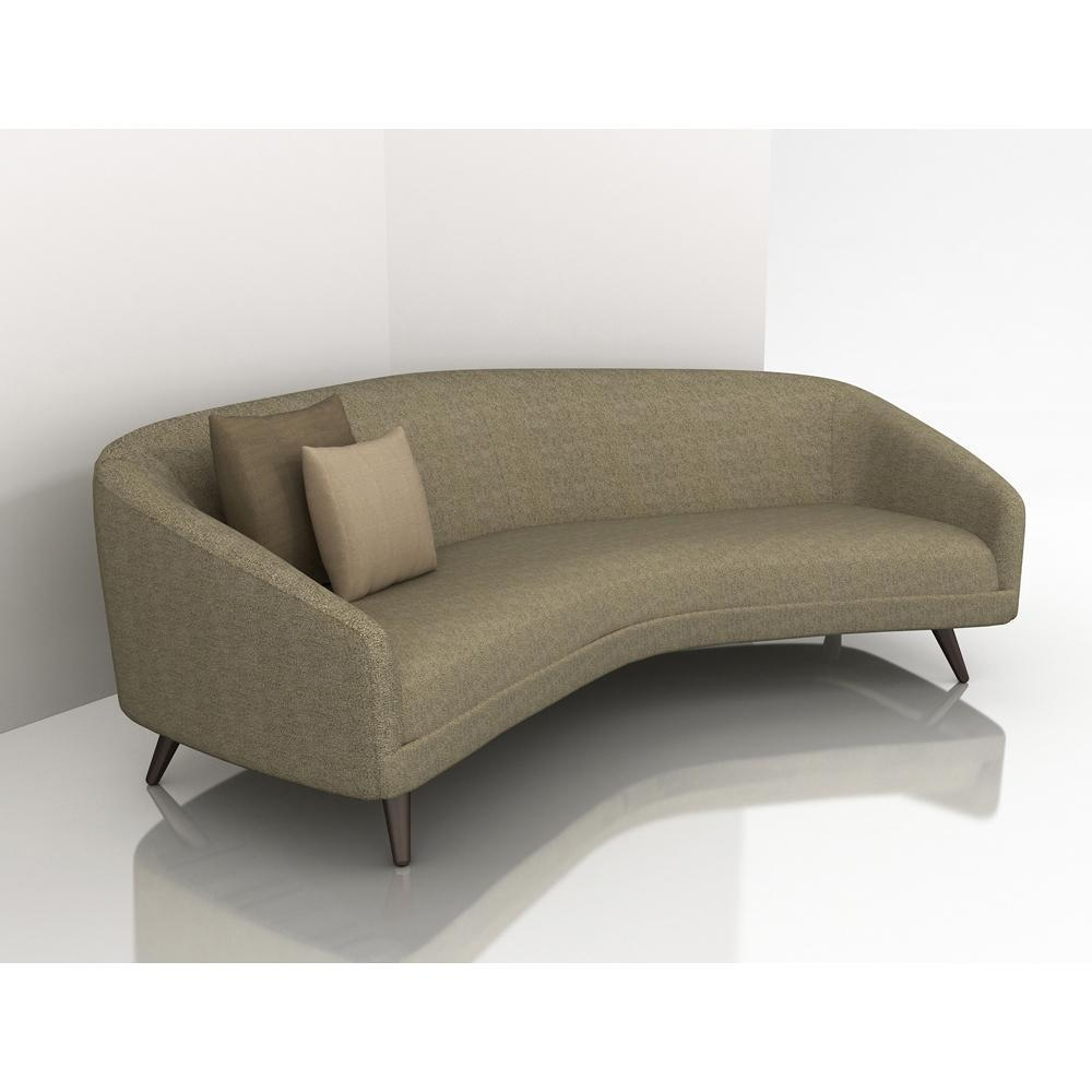 Curved Sofa For Small Spaces: 2019 Latest Small Curved Sectional Sofas