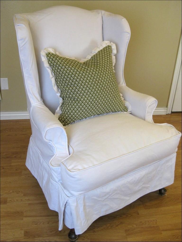 Furniture: Armchair Slipcovers | Armless Chair Slipcover | Sofa Inside Armless Slipcovers (View 7 of 20)