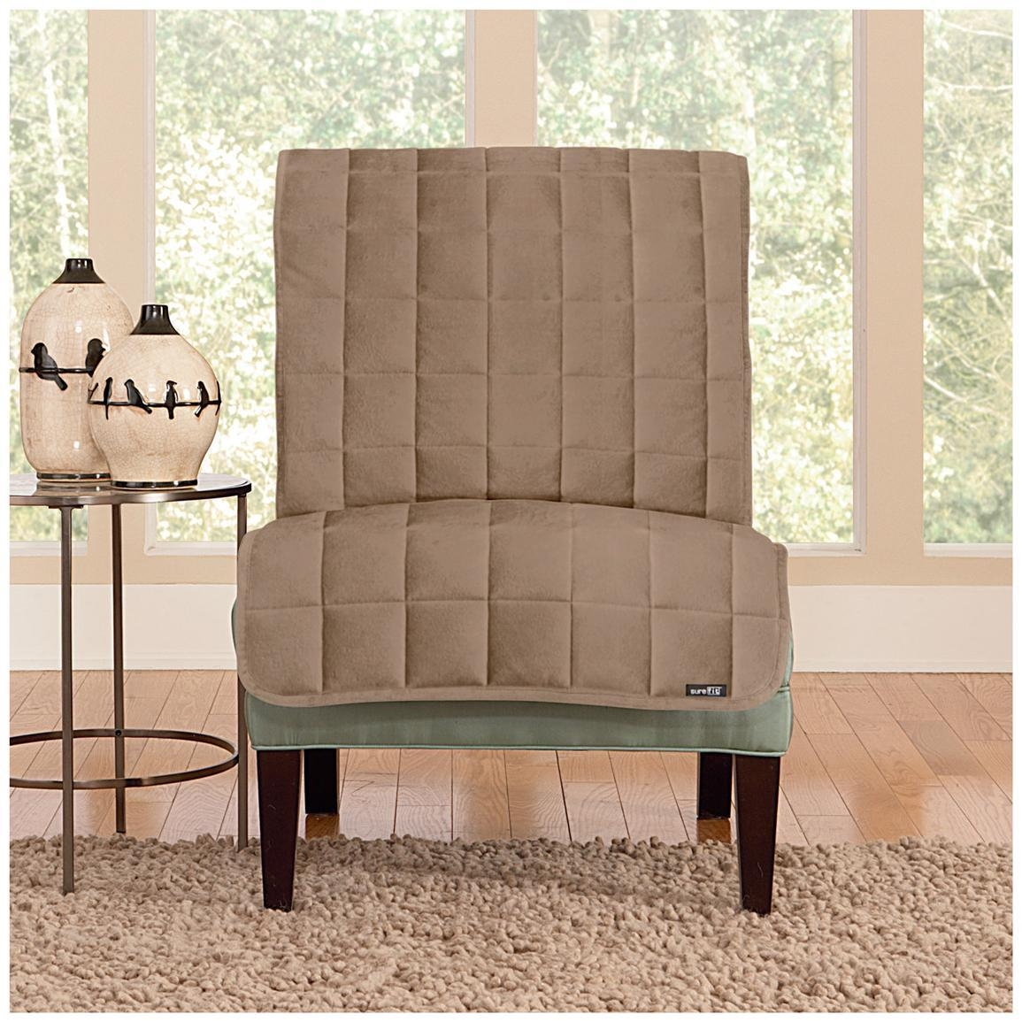 Furniture: Armless Chair Slipcover For Room With Unique Richness Intended For Armless Slipcovers (Image 11 of 20)