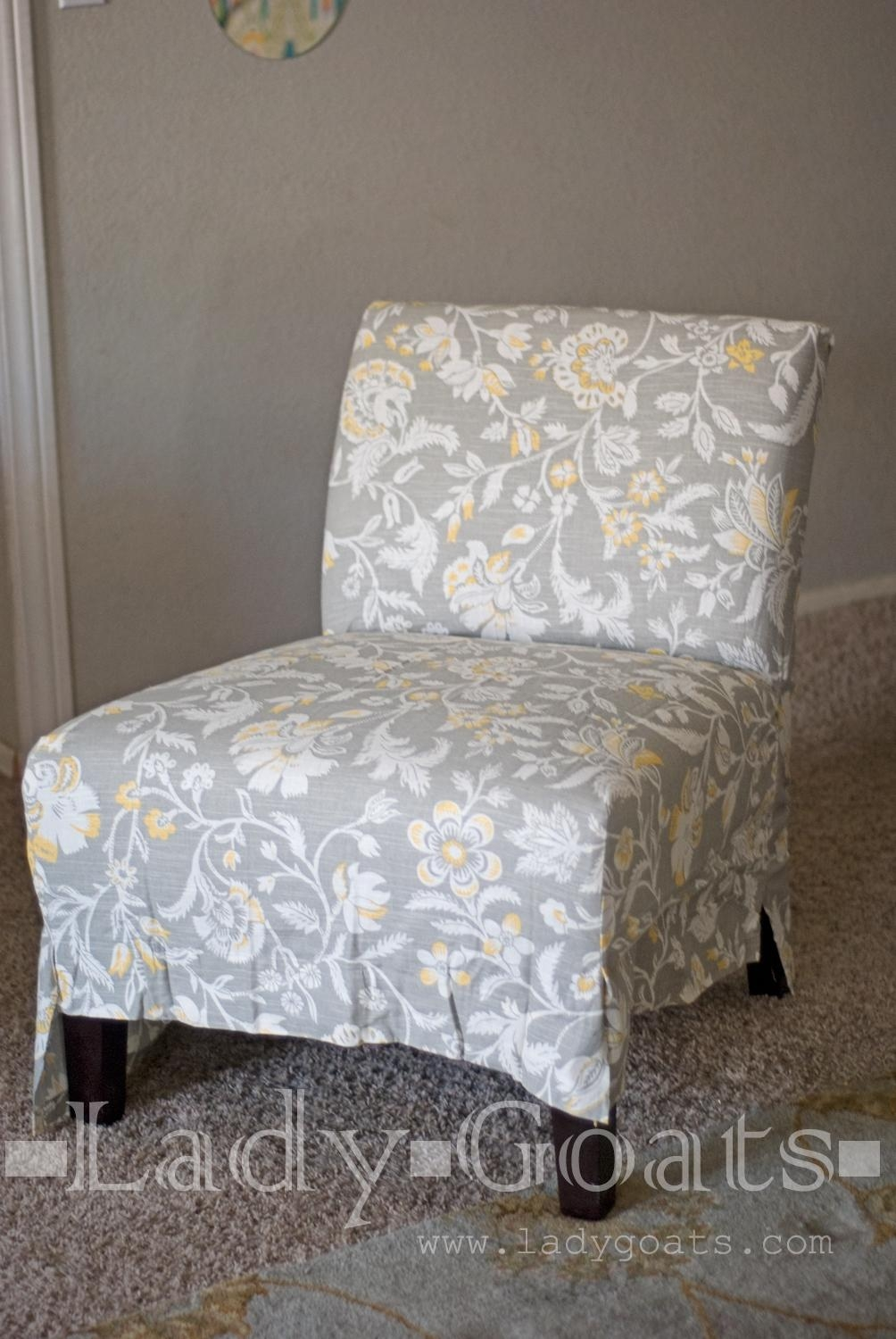 Furniture: Armless Chair Slipcover For Room With Unique Richness Regarding Armless Slipcovers (Photo 1 of 20)