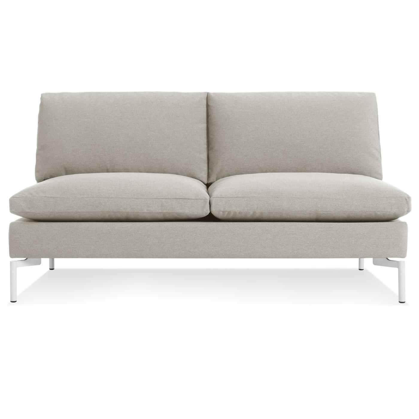 Furniture: Armless Leather Sofa | Armless Sofa Within Small Armless Sofa (Image 1 of 20)