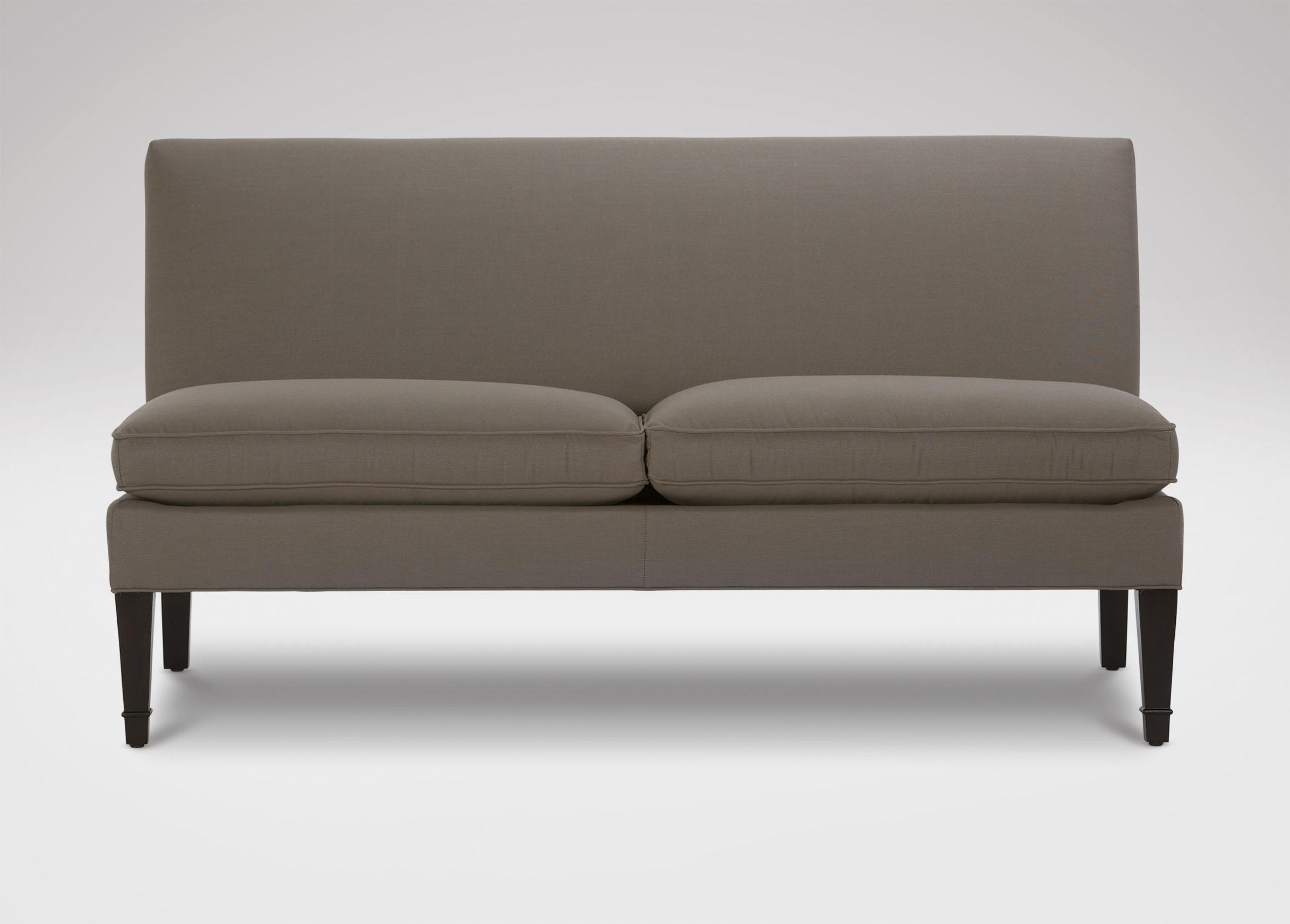 Furniture: Armless Loveseat Sleeper | Armless Sofas | Armless Settee Intended For Small Armless Sofa (Image 2 of 20)
