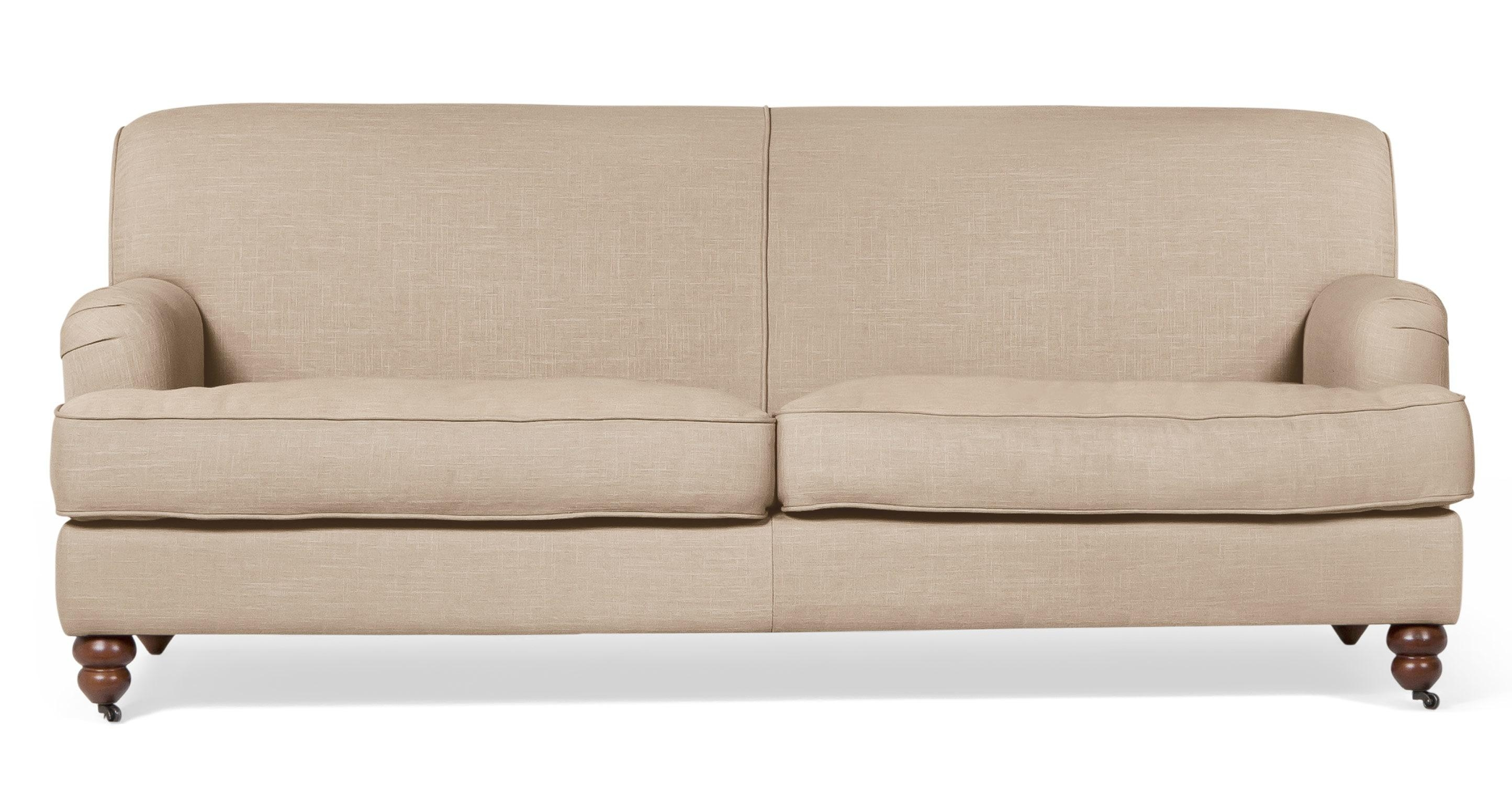 Furniture: Ashley Couches | Beige Couch | Reclining Leather Sofa Within Casters Sofas (Image 11 of 20)