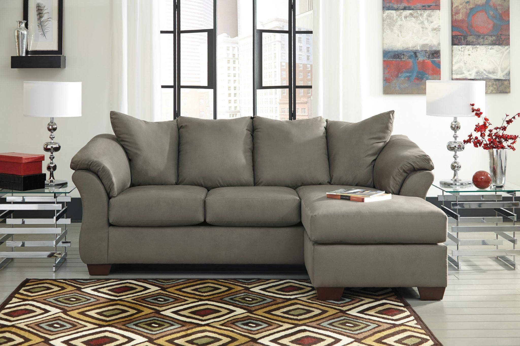 Furniture: Ashley Sofas For Enjoy Classic Seating With Simple Intended For Tufted Sectional With Chaise (Image 4 of 20)