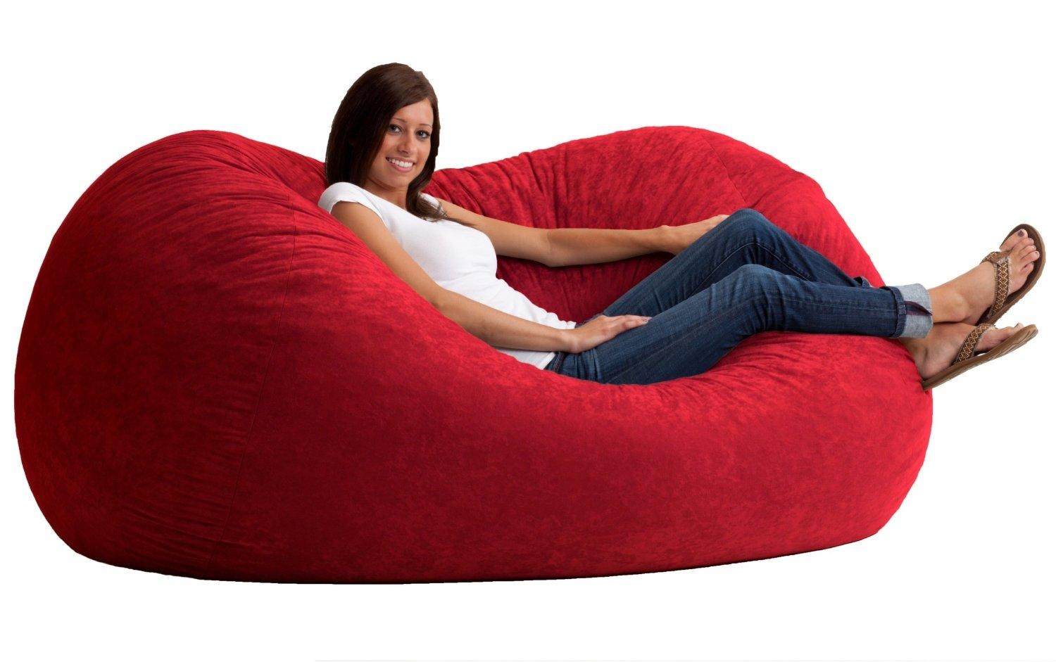 Furniture: Bean Bag Sofas; Are There Any Benefits? Large Bean Bag Throughout Bean Bag Sofa Chairs (Image 15 of 20)