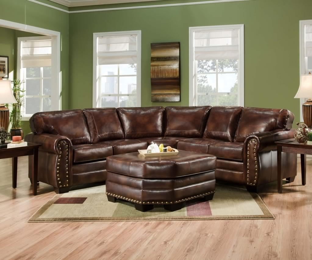 Furniture: Best Design Of Brown Leather Sectional For Modern With Regard To Leather Curved Sectional (Image 6 of 20)