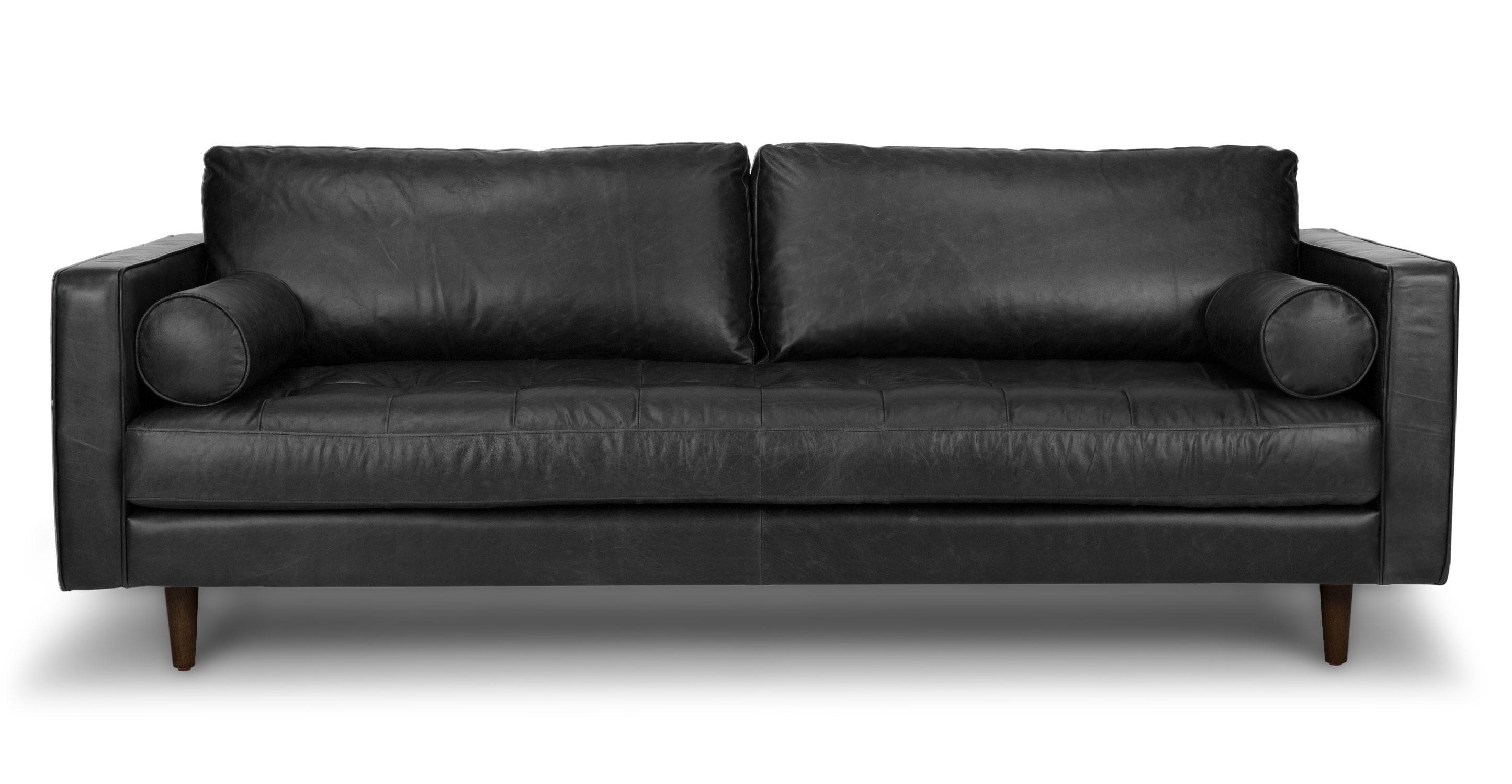 Furniture Black Modern Couches Leather Couch And White | Newmediahub Intended For Black Modern Couches (Image 9 of 20)