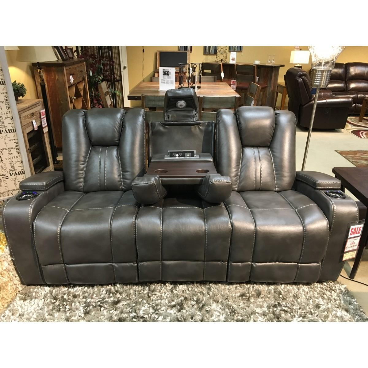 Furniture Bolero Slate Power Reclining Entertainment Sofa Throughout Cheers Leather Sofas (Image 17 of 20)