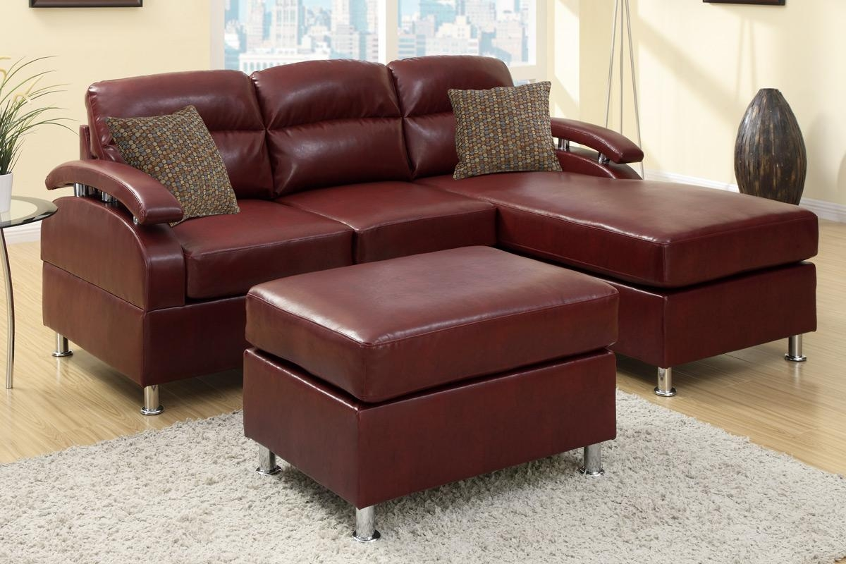 Furniture: Burgundy Couches | Burgundy Sectional Sofa | Burgundy Sofa Intended For Burgundy Sectional Sofas (Image 6 of 20)