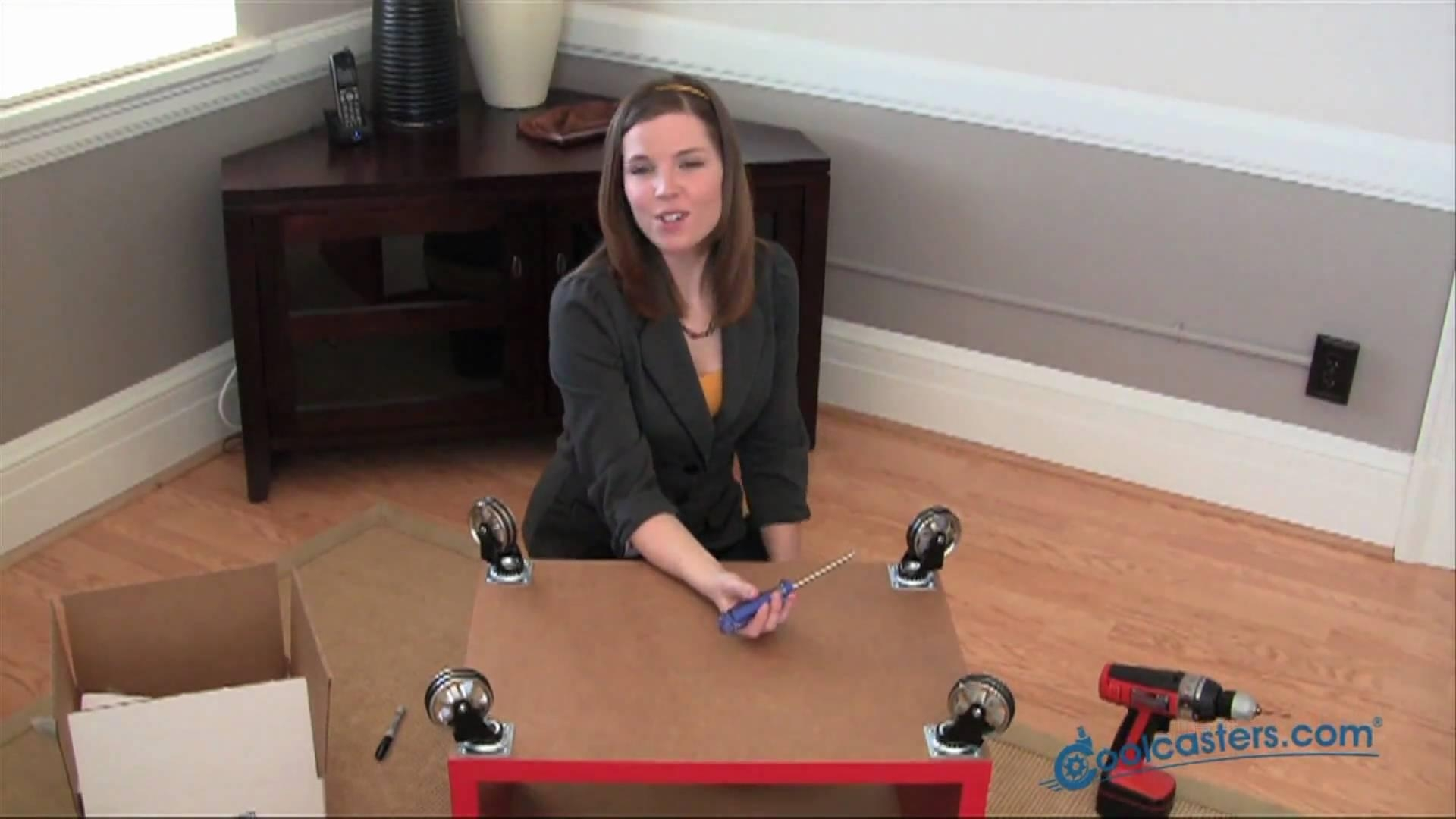 Furniture Casters Installation – Swivel Plate Type Casters For Inside Casters Sofas (View 14 of 20)