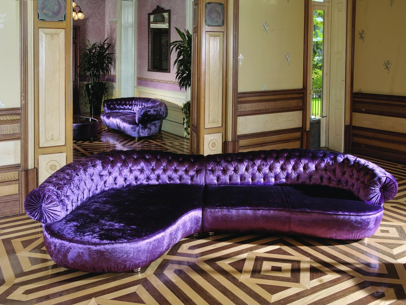 Furniture: Chaise Lounge Sofa | Purple Chaise Lounge | Plum Sofa Set  Regarding Velvet Purple