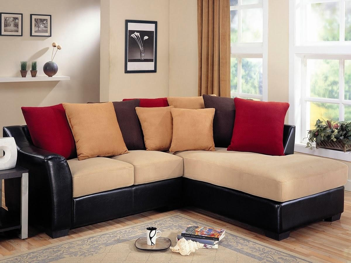 Furniture: Charming Cheap Sectional Sofas In Cream And Black Plus Intended For Cheap Black Sofas (Image 6 of 20)