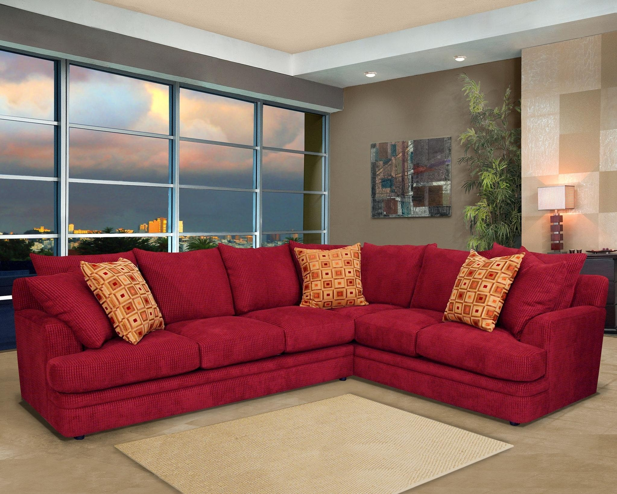 Furniture: Cheap Couches For Sale Under $100 | Couches And Sofas Intended For Cheap Red Sofas (Image 9 of 20)