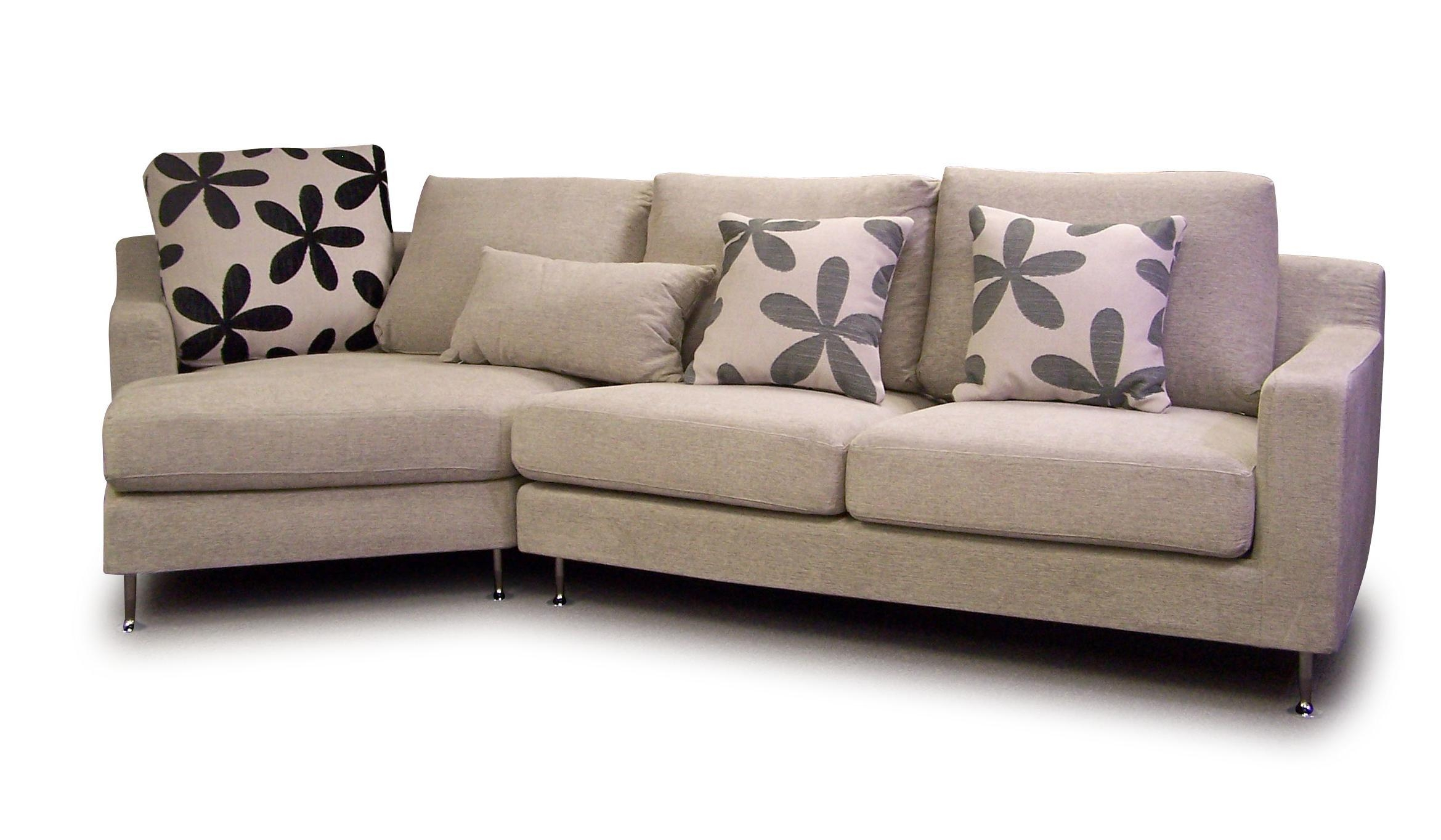 Furniture: Cheap Sectional Sofas In Cream Plus Floral Cushions For Regarding Floral Sofas (View 4 of 20)