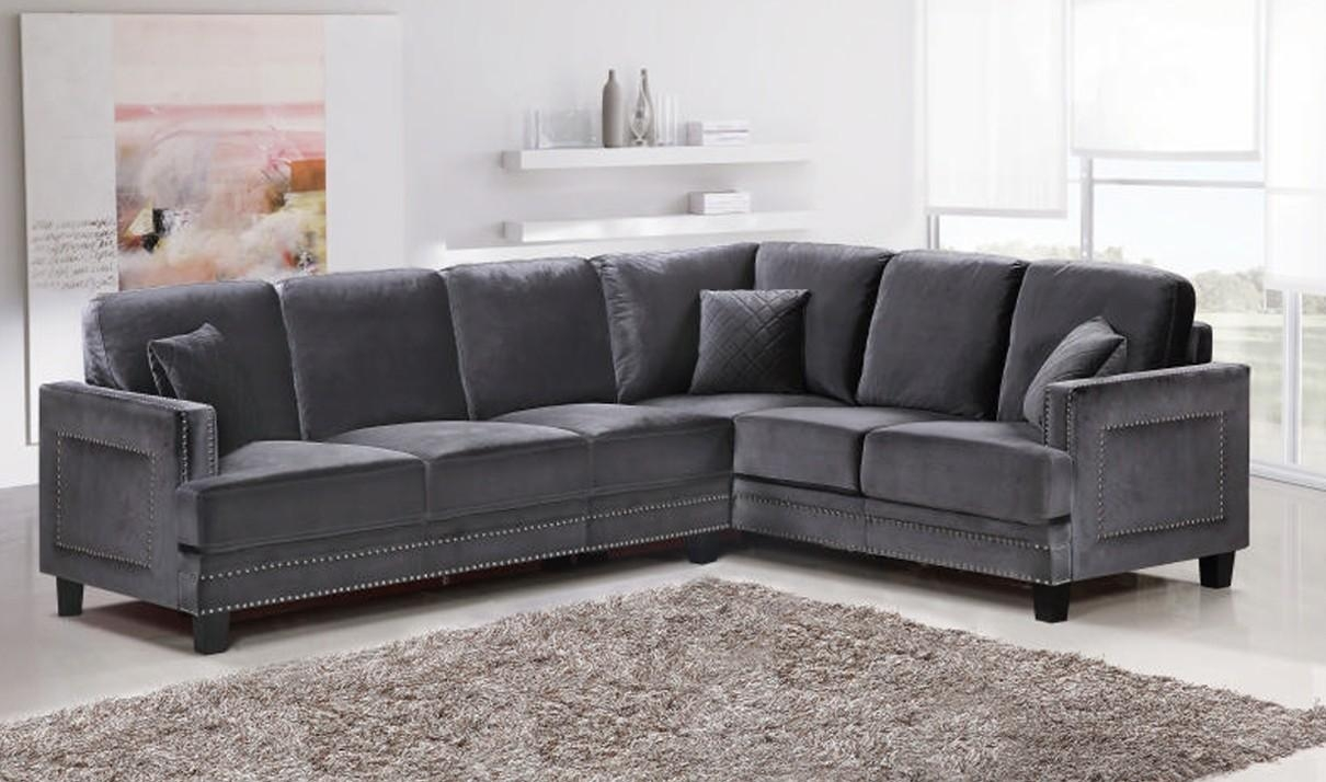 Furniture: Classic And Traditional Style Velvet Sectional Sofa For Inside Velvet Sofas Sectionals (Image 8 of 20)