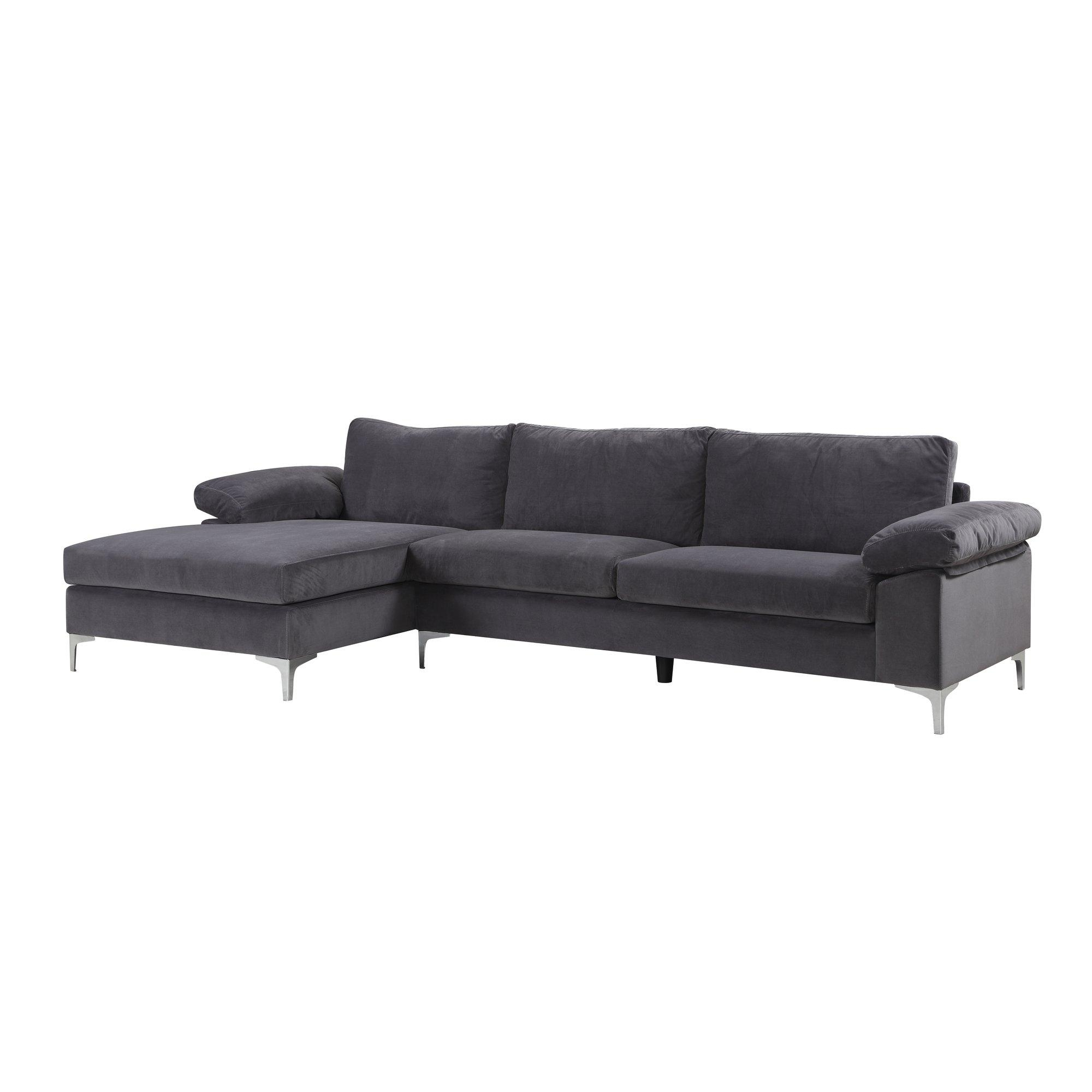 Furniture: Classic And Traditional Style Velvet Sectional Sofa For Inside Velvet Sofas Sectionals (Image 7 of 20)