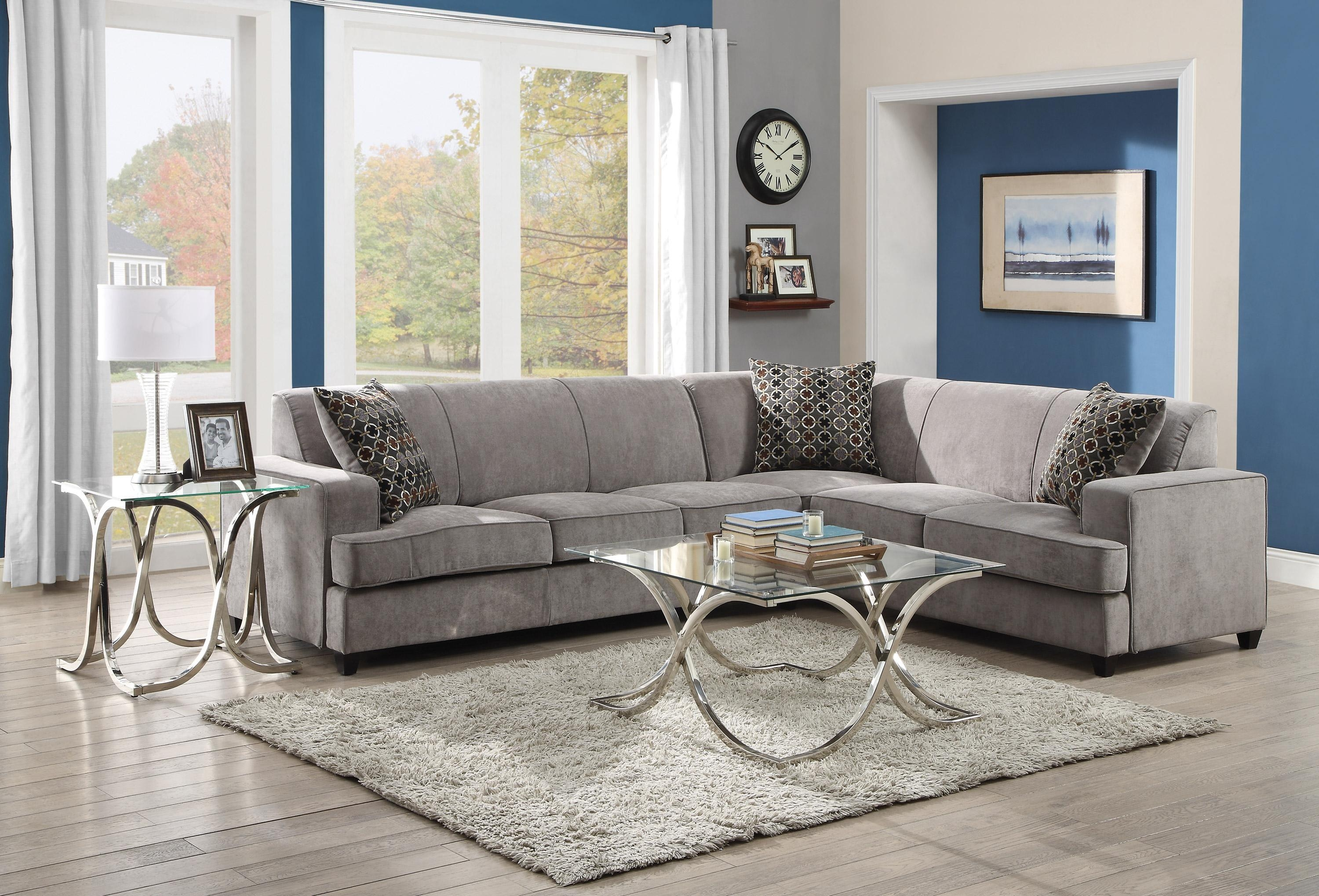 Furniture: Classic And Traditional Style Velvet Sectional Sofa For Pertaining To Velvet Sofas Sectionals (Image 10 of 20)