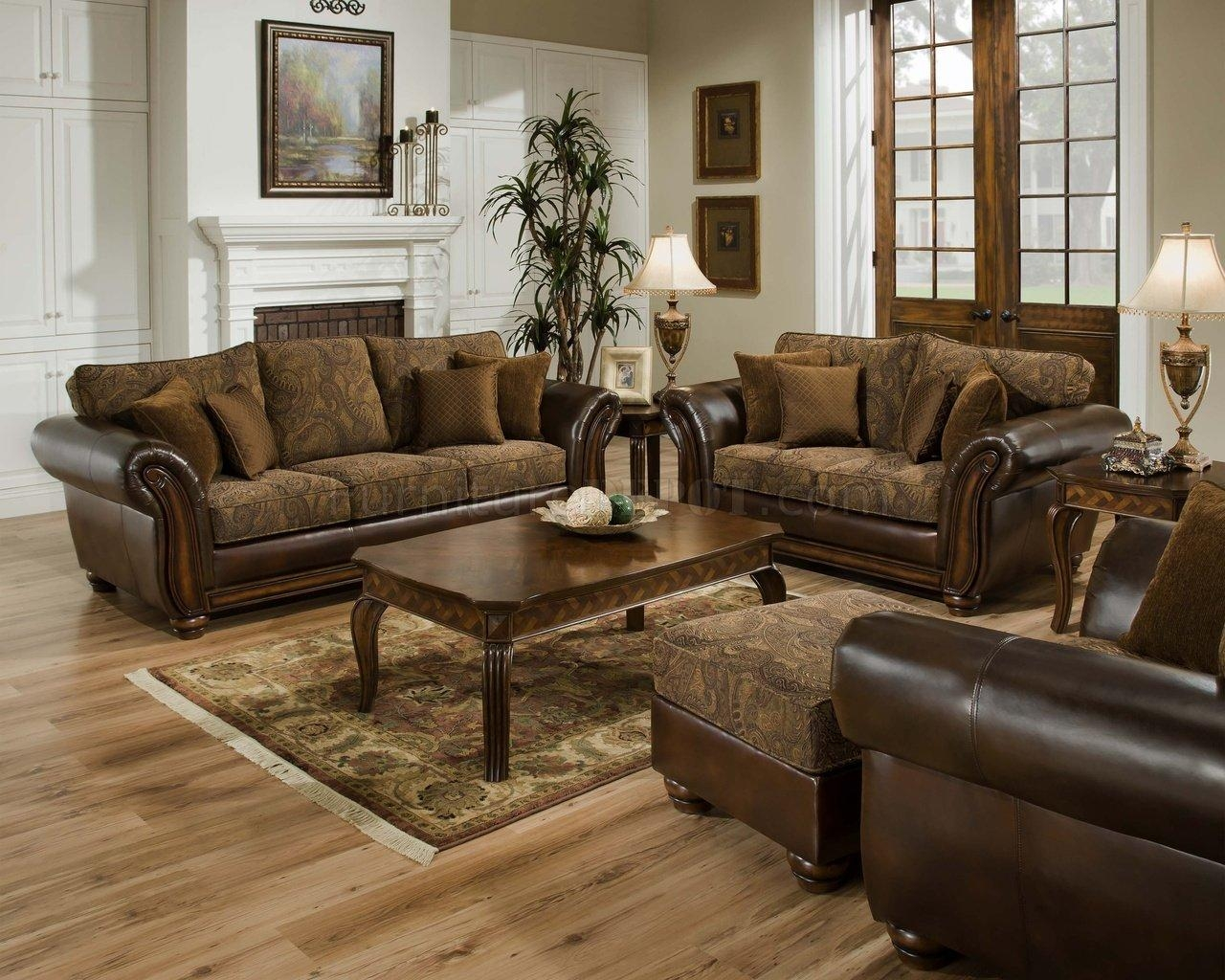 Furniture: Clearance Sectional Sofas For Elegant Living Room With Leather And Chenille Sectional (Image 7 of 20)