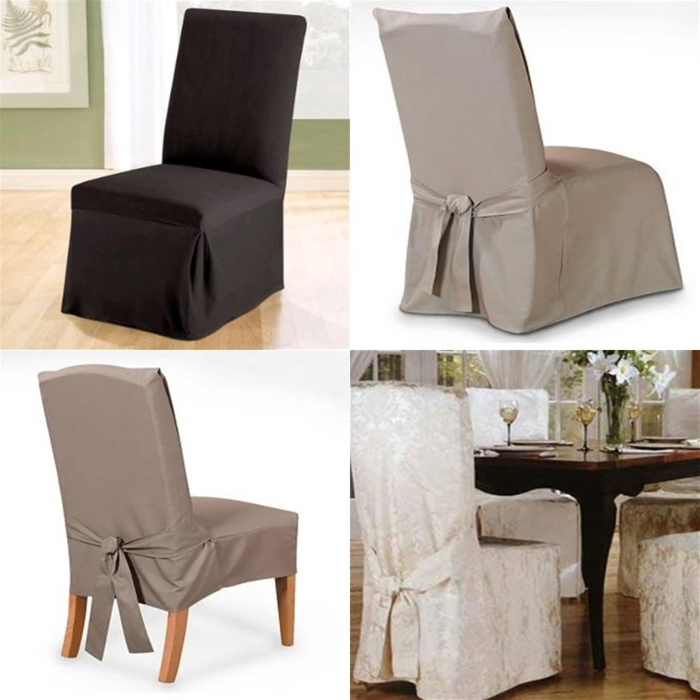 Furniture: Comfortable And Stylish Slipcovered Chairs For Home Intended For Armless Slipcovers (Image 15 of 20)