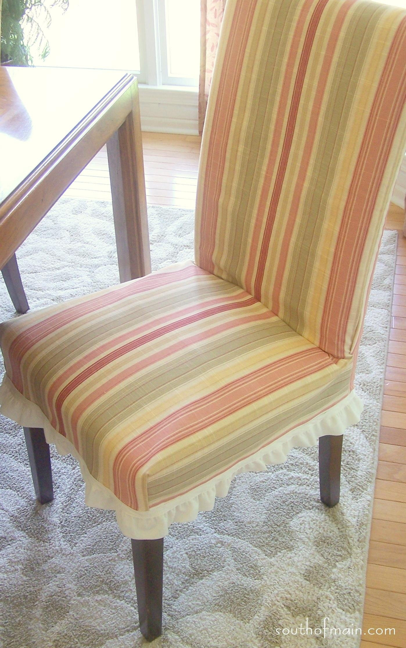 Furniture: Comfortable And Stylish Slipcovered Chairs For Home Throughout Pottery Barn Chair Slipcovers (Image 3 of 20)