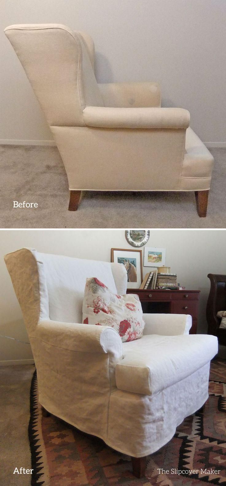 Furniture: Comfortable And Stylish Slipcovered Chairs For Home With Armless Slipcovers (Image 16 of 20)