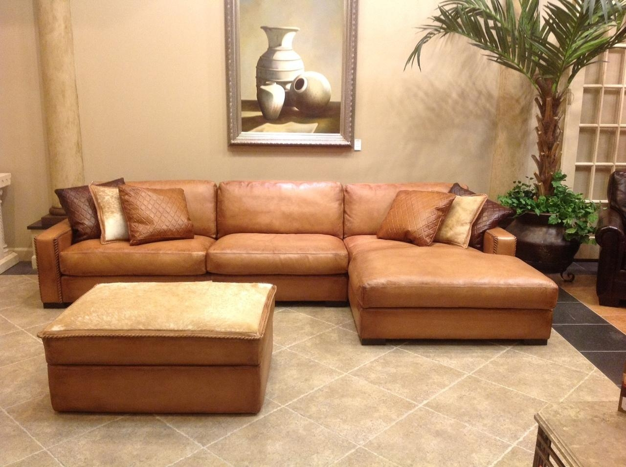 Furniture: Comfortable Deep Seat Sectional For Your Living Room With Regard To Deep Seat Leather Sectional (View 2 of 15)