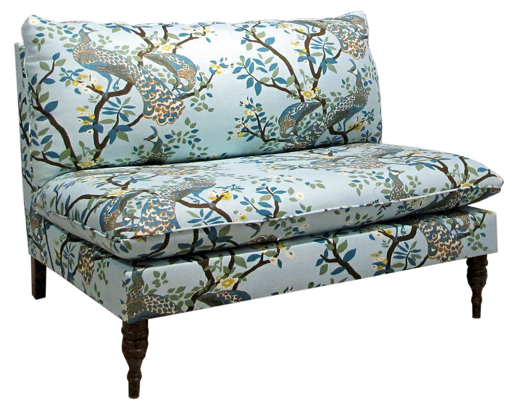 Furniture: Comfortable Modern Sofa Design With Cozy Armless Settee Inside Small Armless Sofa (Image 7 of 20)