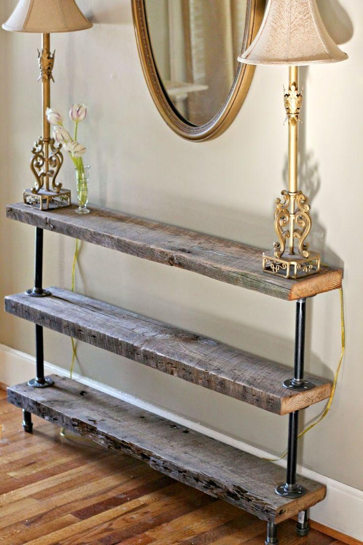 Furniture: Console Table With Drawers And Shelves | Shabby Chic Pertaining To Shabby Chic Sofa Tables (View 20 of 20)