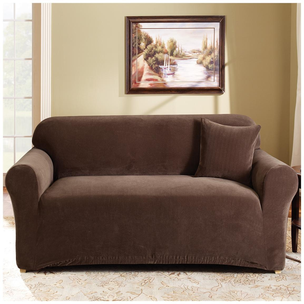 Furniture: Contemporary Sofa Design With Sure Fit Couch Covers Inside Sofa And Loveseat Covers (View 2 of 20)