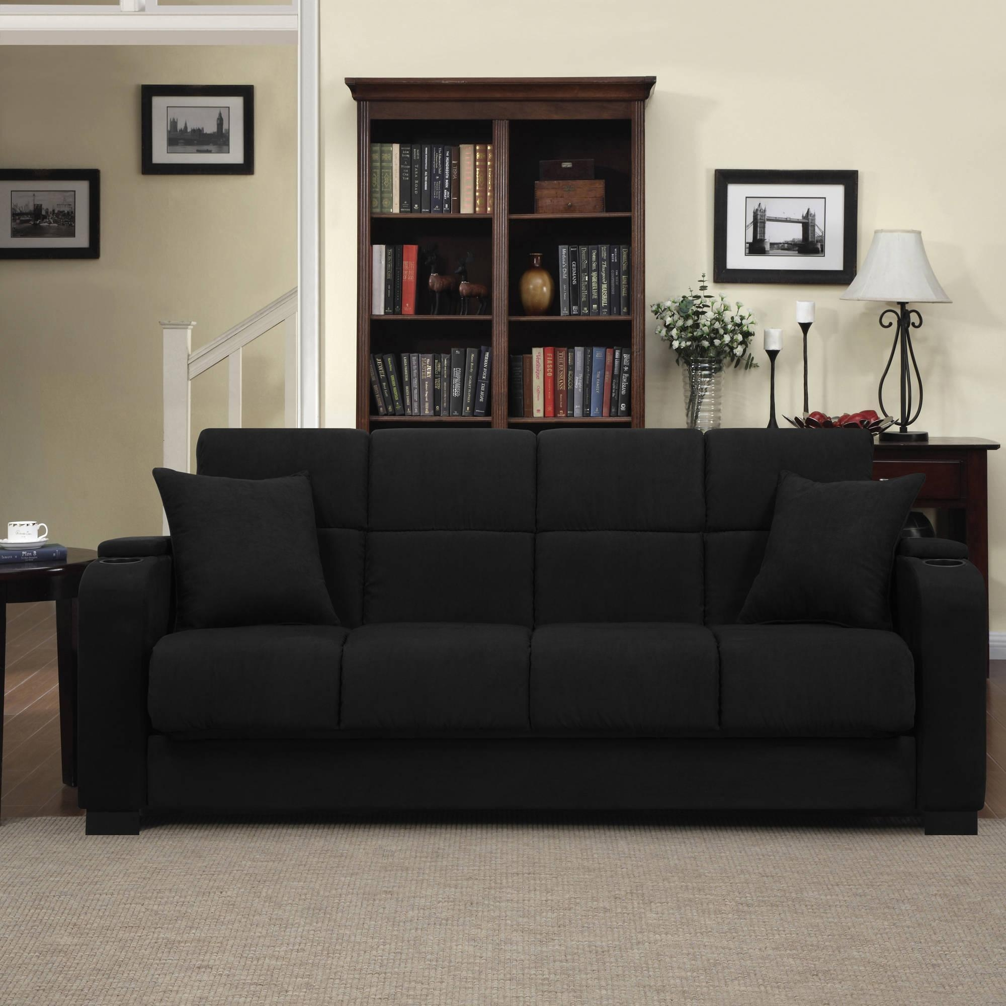 Furniture: Couch Covers At Walmart To Make Your Furniture Stylish Regarding Cheap Black Sofas (Image 8 of 20)