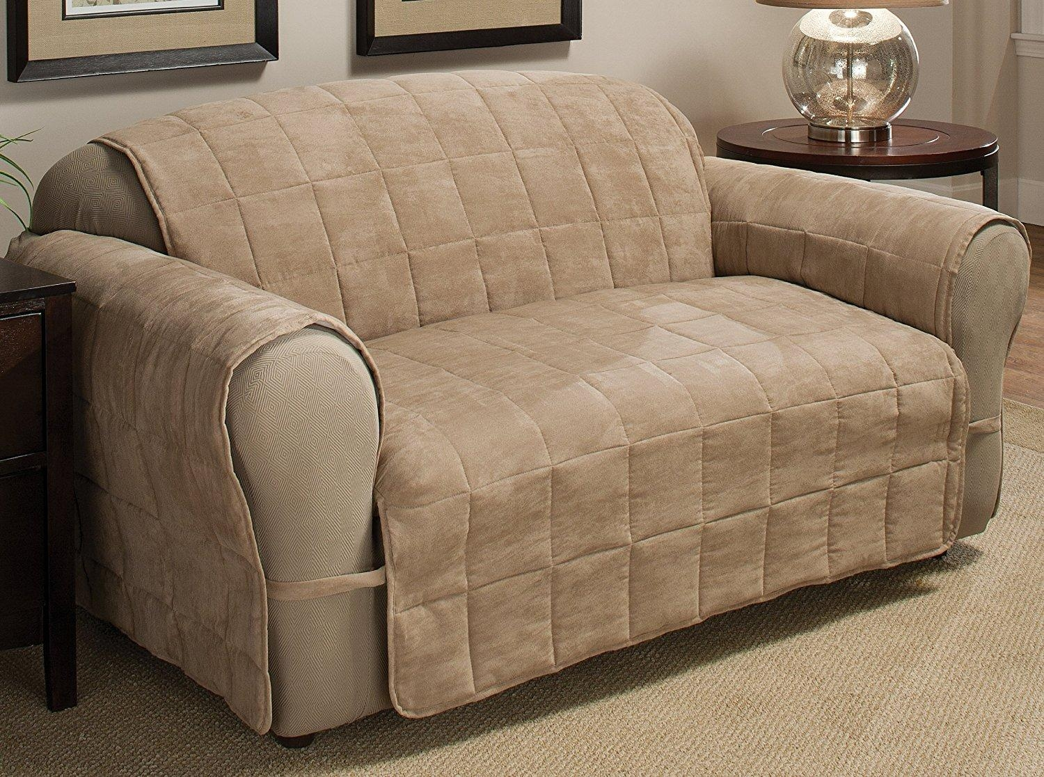 Furniture: Couch Slip Cover | Sofa Slipcover | Recliner Chair Covers Pertaining To Slipcover For Leather Sofas (Image 14 of 20)