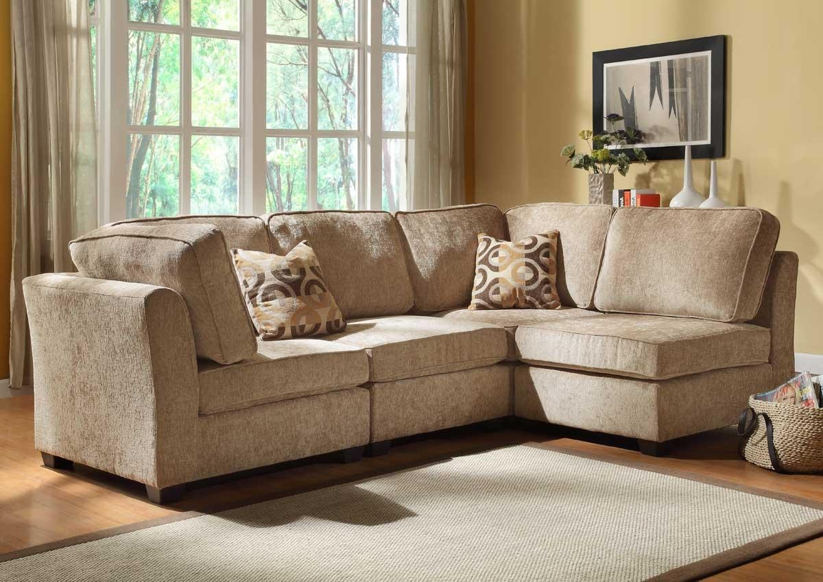 Furniture: Cozy Beige Couch Design For Classic Living Room Ideas Inside Camel Colored Sectional Sofa (Image 9 of 15)