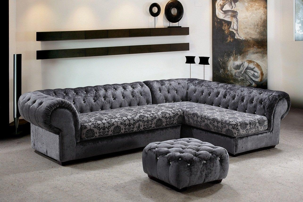 Furniture: Cozy Grey Sectional Sofa For Modern Family Room Pertaining To Charcoal Gray Sectional Sofas (View 9 of 20)