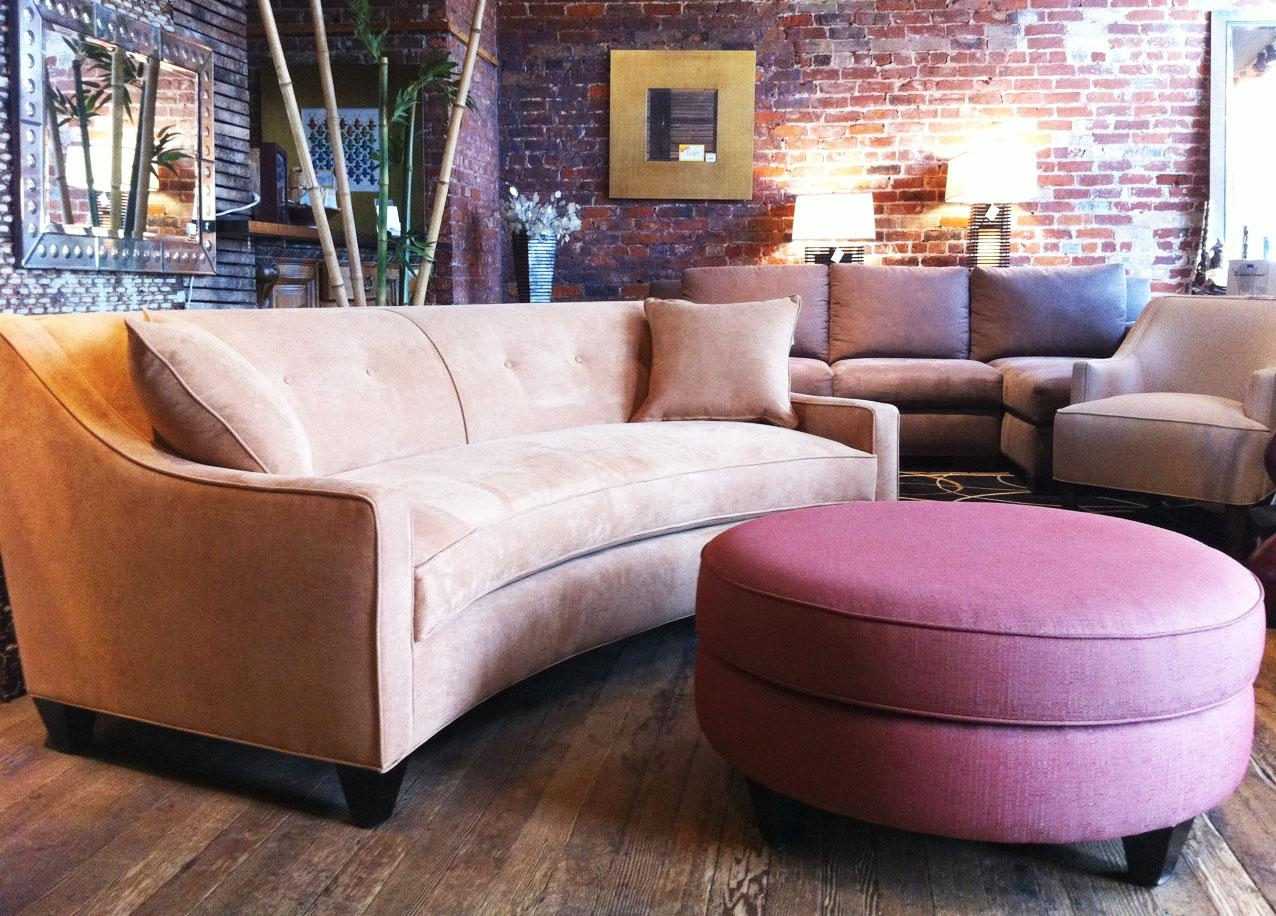 Furniture: Create Your Comfortable Living Room Decor With Round For Round Sectional Sofa (View 9 of 20)