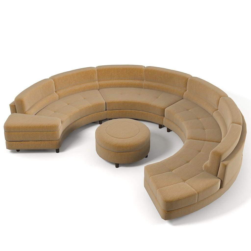 Furniture: Create Your Comfortable Living Room Decor With Round In Circular Sectional Sofa (View 12 of 15)
